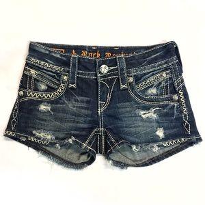 "Rock Revival ""Becky"" Distressed Jean Shorts Sz 23"